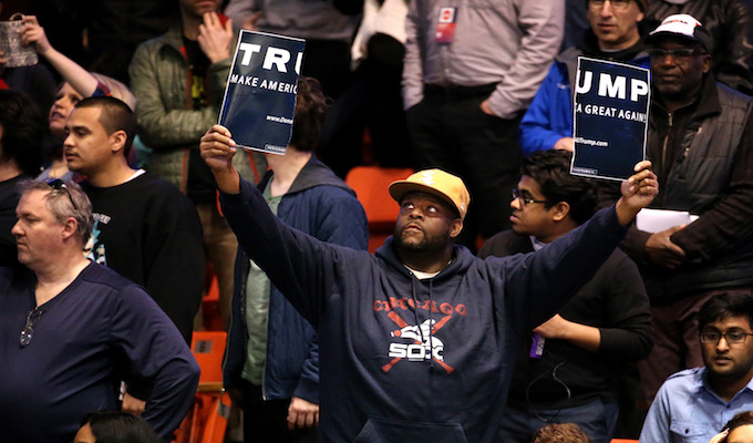 Image result for Pictures of Chicago Trump riots