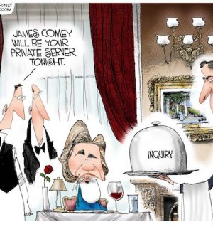Hillary is served