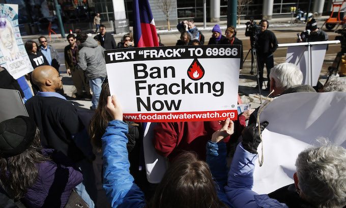 Fracking where climate change is a religion