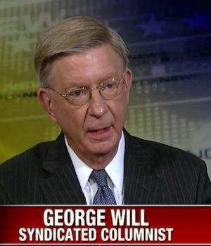 Never Trump: Why George Will is down and out