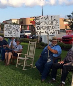Grandpas deliver message to Target: Not on my watch
