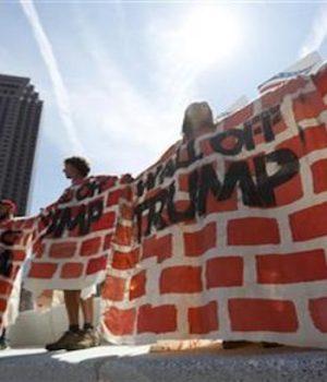 Agitators build 'wall' in Cleveland