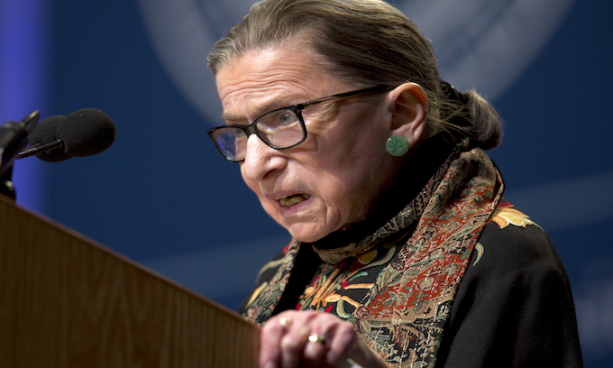 Frail Justice Ginsburg blasts Brett Kavanaugh hearings as 'highly partisan show'