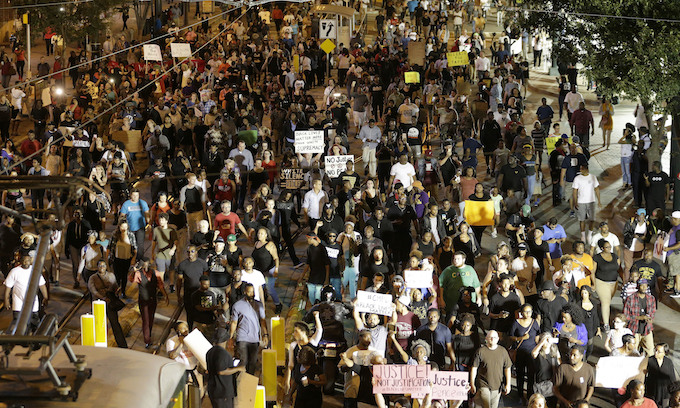 Fourth night of protest follows Charlotte police shooting