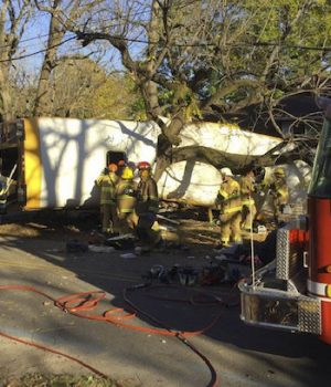 School bus driver charged in crash that killed five kids