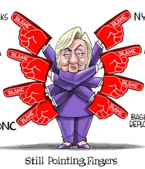 Hillary Needs More Fingers