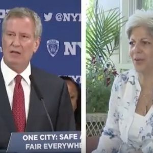 Queens woman confronts Bill de Blasio over Germany trip: 'Be a mayor!'