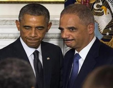 Holder urges DOJ/FBI to unconstitutionally defy President: 'Protect the institutions'