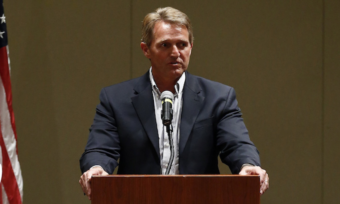 Jeff Flake on Roy Moore: I would run to the polling place to vote for the Democrat