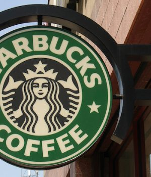 Starbucks tables, restrooms open to all, no purchase necessary