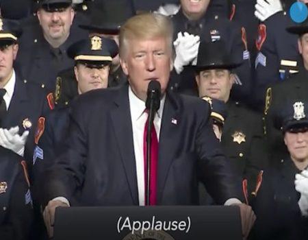Leftists don't appreciate a president who supports cops, not criminals