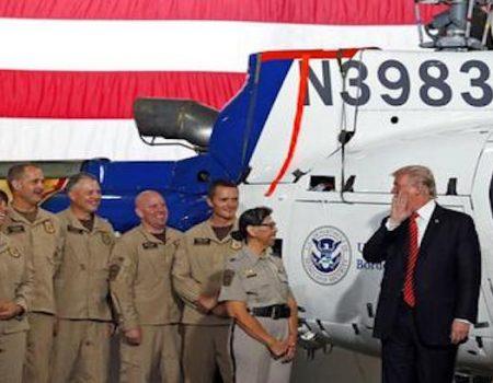 Trump meets Marines in 106-degree Yuma