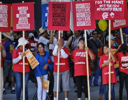Protesters demand $15 minimum wage during Labor Day protests