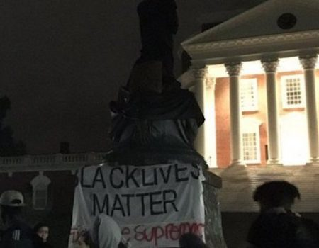 Black Lives Matter protesters defaced Jefferson statue at UVA