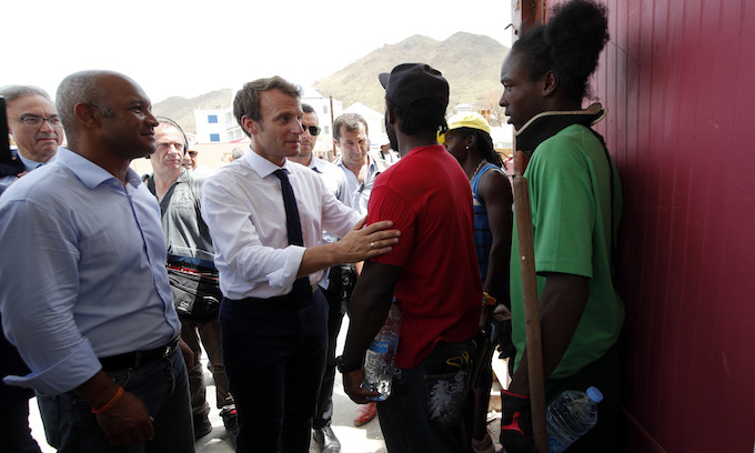 Under fire for storm response, Macron arrives in hurricane-hit French islands