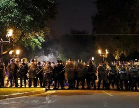 Ten police officers injured, property damaged in St. Louis riot