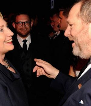 Hillary Clinton cozied up to Harvey Weinstein, reminding America that it averted a disaster