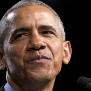 Obama surfaces to deliver similar political message as Bush