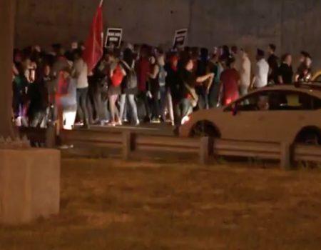 St. Louis police arrest 143 agitators blocking highway