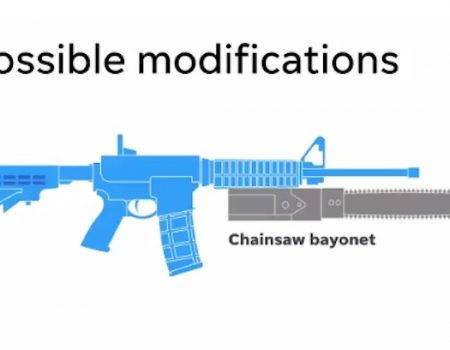USA Today's 'chainsaw bayonet' rifle warning mocked on Twitter