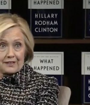 Bitter, Vindictive Hillary Clinton is the Face of the 2018 Democrat Party