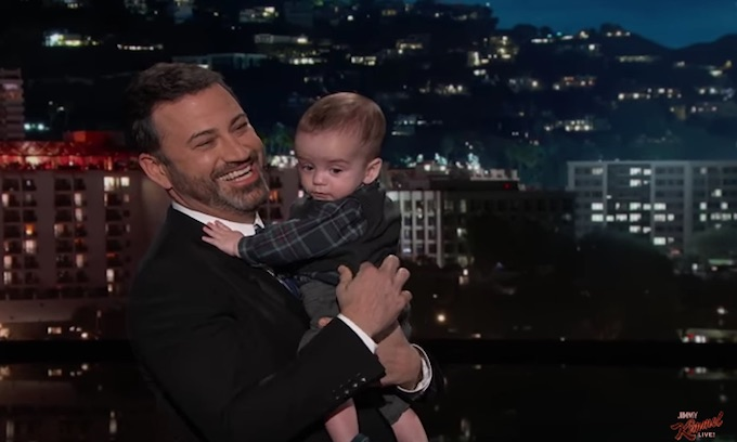 Kimmel uses his baby son as political prop