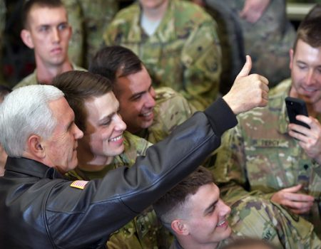 VP Mike Pence makes surprise visit to troops in Afghanistan