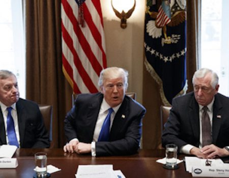 Trump holds extraordinary meeting on immigration, border security