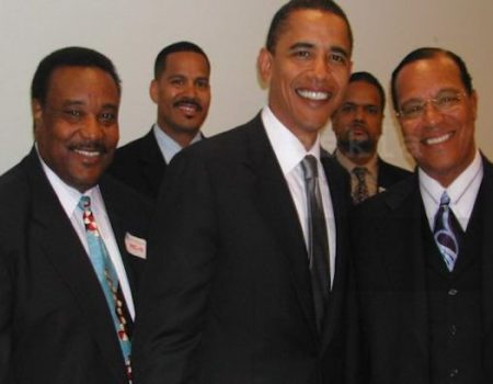 Photo Emerges Of Obama Smiling With Black Nationalist Hate Group Leader Louis Farrakhan