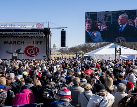 President Trump speaks by video to March for Life