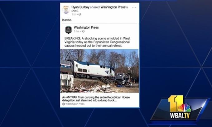 President of teacher's union says GOP train crash was 'karma'