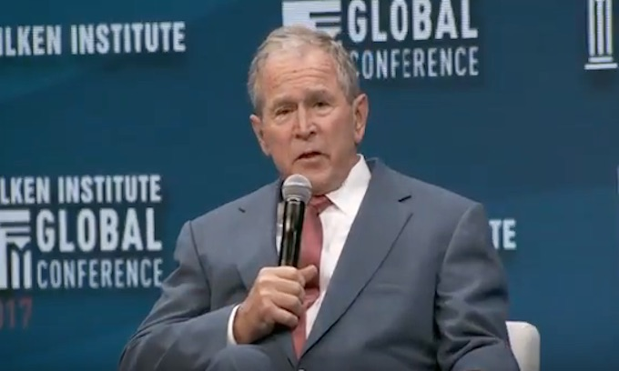 Establishment Darling George W. Bush talks illegal aliens, Russian meddling