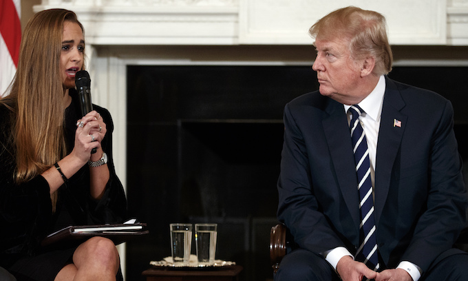 Trump holds extraordinary listening session with those impacted by school shootings