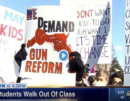 'Political indoctrination' by public schools in gun-control walkouts?