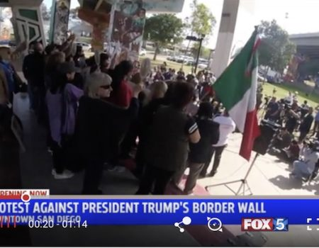 Beverly Hills' best: Mexican-flag wavers demanding impeachment