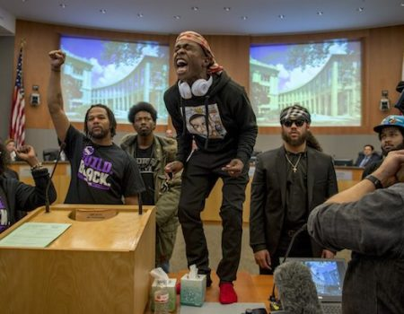 Brother of unarmed man killed by cops interrupts Sacramento council meeting, screaming at mayor