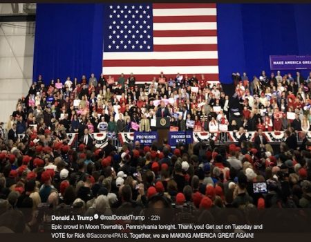 Rally: Media bashing Trump upsets establishment sycophants