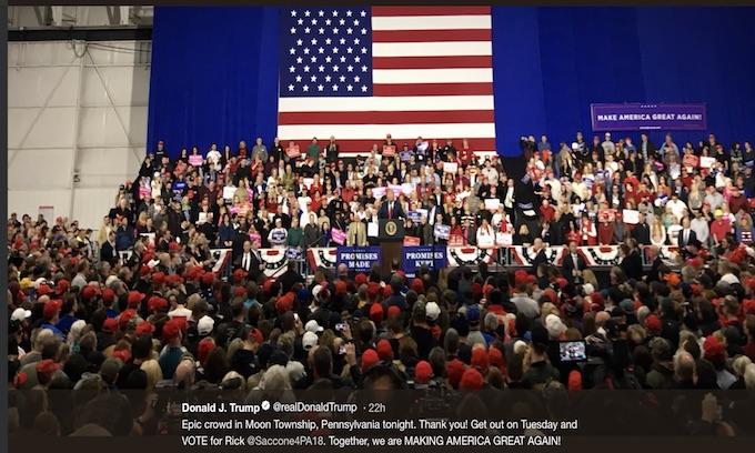 Rally: Media bashing Trump upsets establishment sycophants