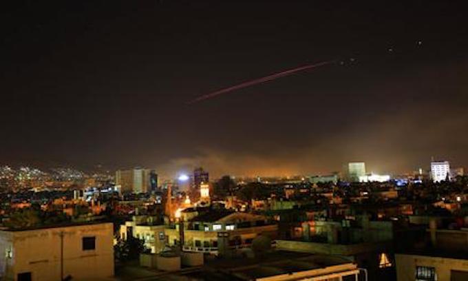 U.S., U.K., France launch precision strikes on Syria