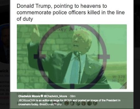 CNN's Chris Cillizza tweets image of Donald Trump in crosshairs