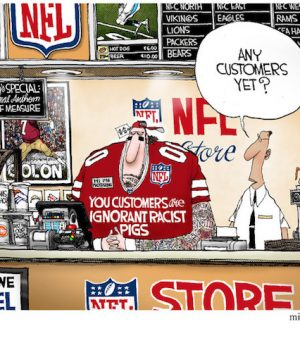 NFL Store: Two Kneels for Price of One; Insults Free