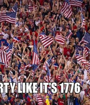 It's so insensitive to 'party like it's 1776' at prom