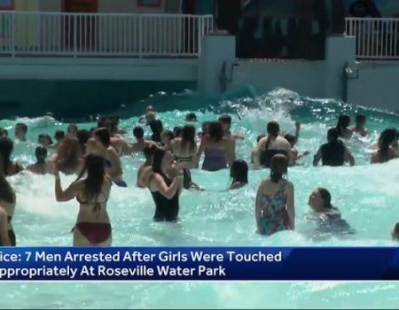 Seven men arrested after reports of touching young girls at Roseville water park