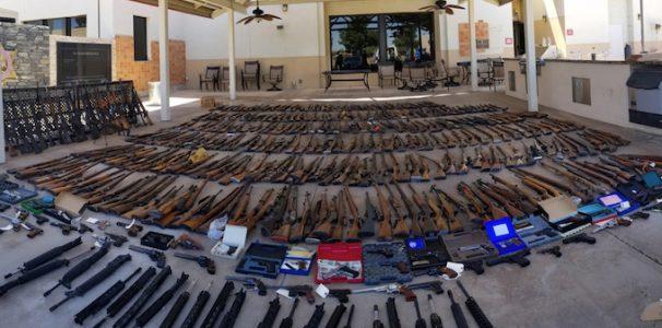 Felon jailed after police find 553 guns in 2 LA-area homes