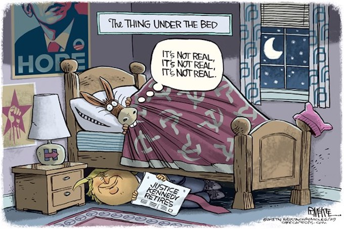 Under the bed and in their head!