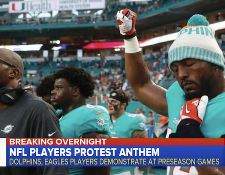 Florida police unions cancel Miami Dolphins ticket deal over anthem kneeling