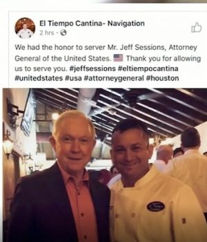 Leftists force Houston Mexican restaurant to shut down social media, apologize, after serving Jeff Sessions