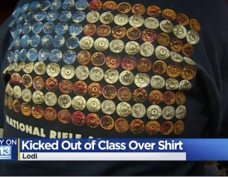 California school berates students over NRA shirts