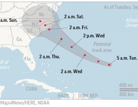 Carolinas, Virginia start evacuations as Hurricane Florence looms
