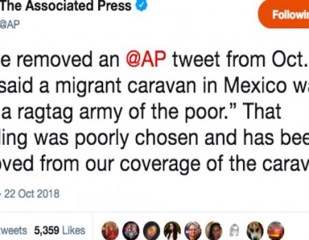 Associated Press apologizes for tweet calling migrant caravan 'ragtag army of the poor'